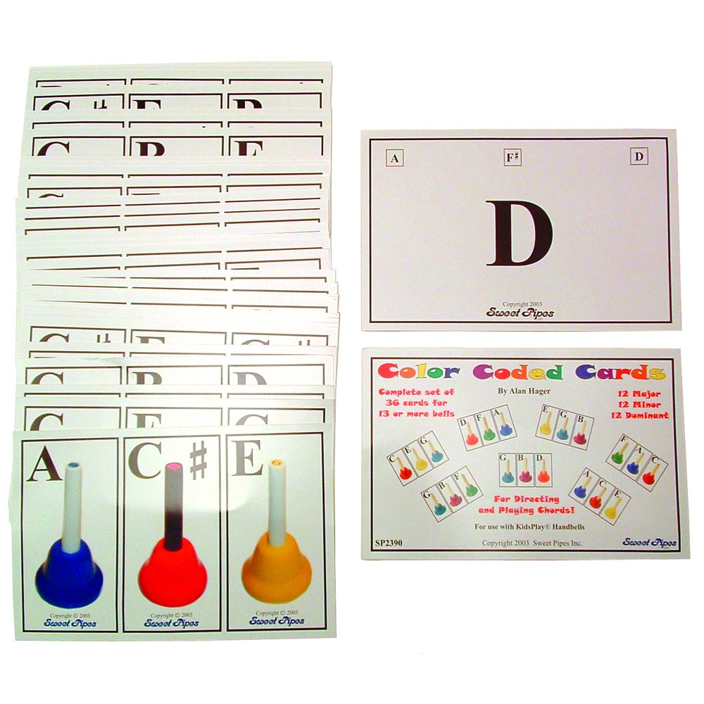 Westco Color-coded Handbell Chord Cards (Set of 36) by Westco