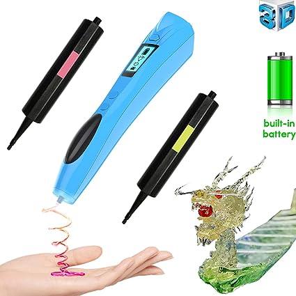 Amazon com: 3D Pen for Kids, Lauva Cordless 3D Drawing Pen UV Photo
