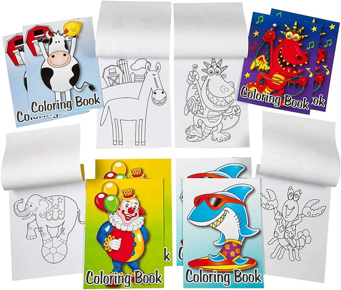 Amazon Com Kicko Mini Coloring Book 12 Pieces Of Assorted
