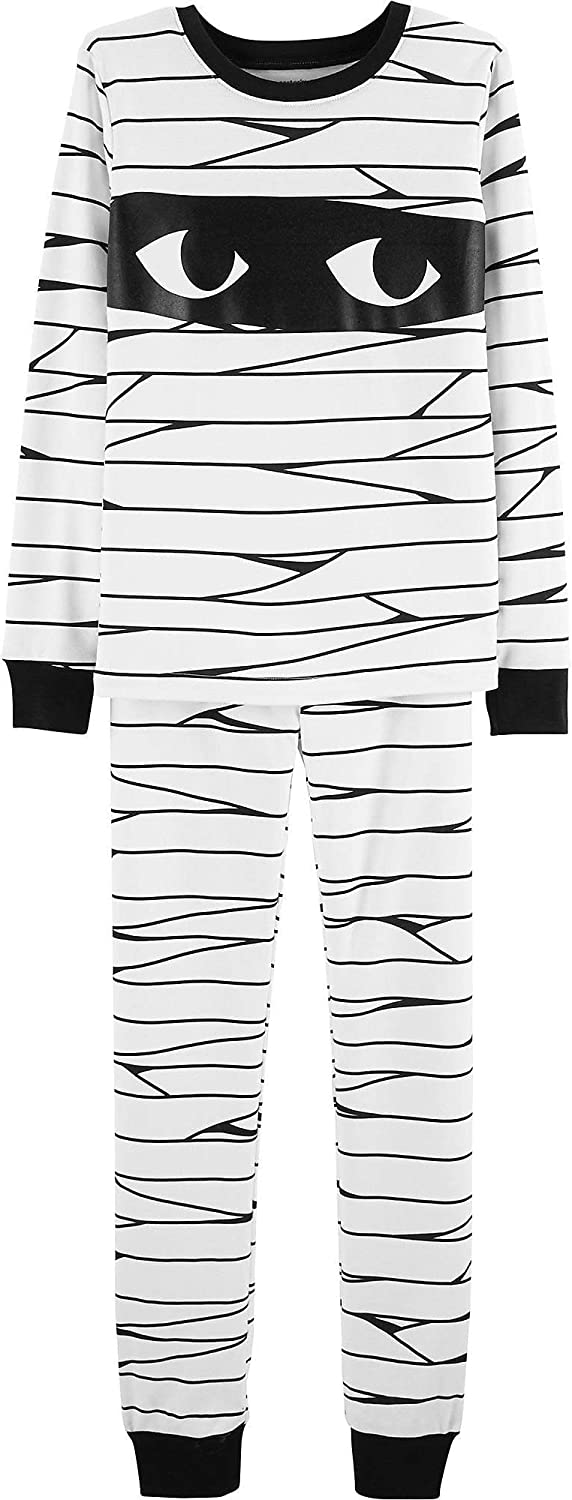Carters Baby Boys 12M-24M 2 Piece Glow-in-The-Dark Snug Fit Cotton Halloween PJS