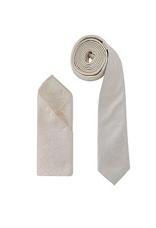 Juego de pañuelo de corbata de boda de DressCode, color marfil ...