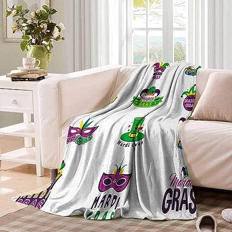 Amazon.com: Mardi GrasDouble Personal blanketSet of Carnival ...