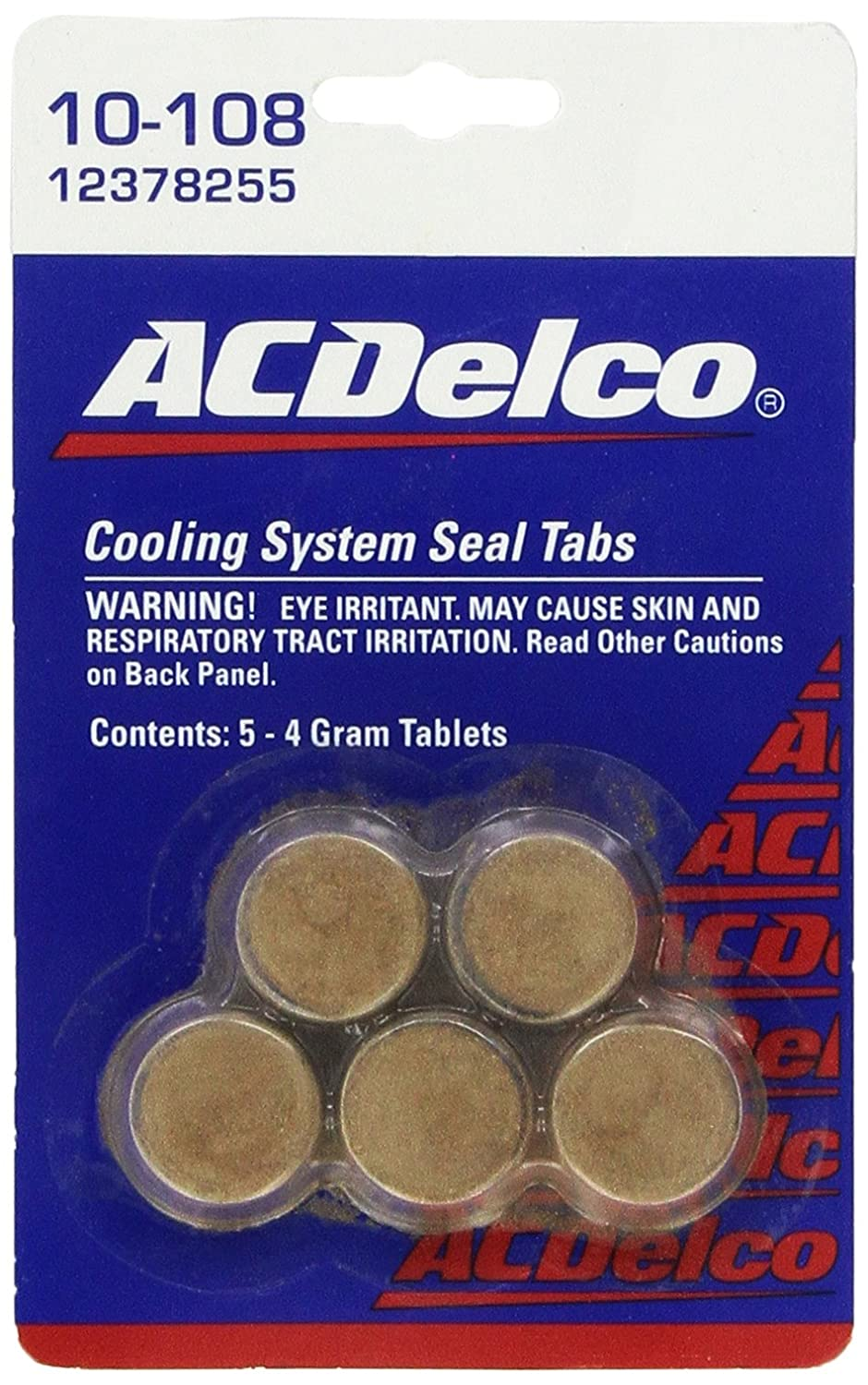Genuine GM (12378255) Fluid 3634621 Cooling System Seal Tablet - 4 Grams, (Pack of 5)