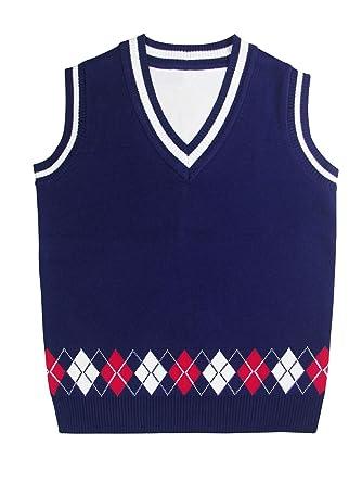 9c471b02b30a Kids Children Knit Sweater Vest Top Little Boys Girls Jumpers Cotton ...