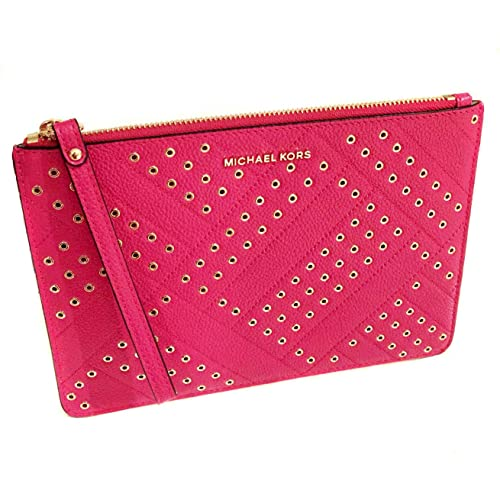84d3fbde06c3 Michael Kors New Womens MK Jet Set Clutch Bag Handbag Wristlet Purse - Deep  Pink: Amazon.co.uk: Shoes & Bags