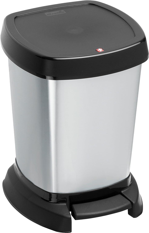 Rotho 7541080745 Paso - Cubo de basura (6 L), color negro: Amazon.es: Hogar