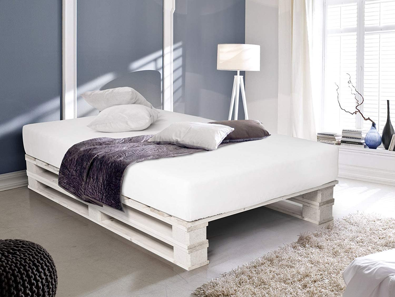 Dydaya Cama de Palets de 80 x 200 x 30 cm Color Blanco