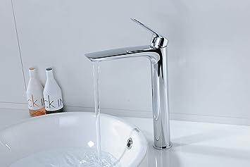 Hoch Wasserhahn Waschbecken Mischbatterie Waschtischarmatur Bad Einhebelmischer