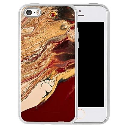 Amazon.com: iPhone 5S 5 se funda, diseño de mármol zttrade ...