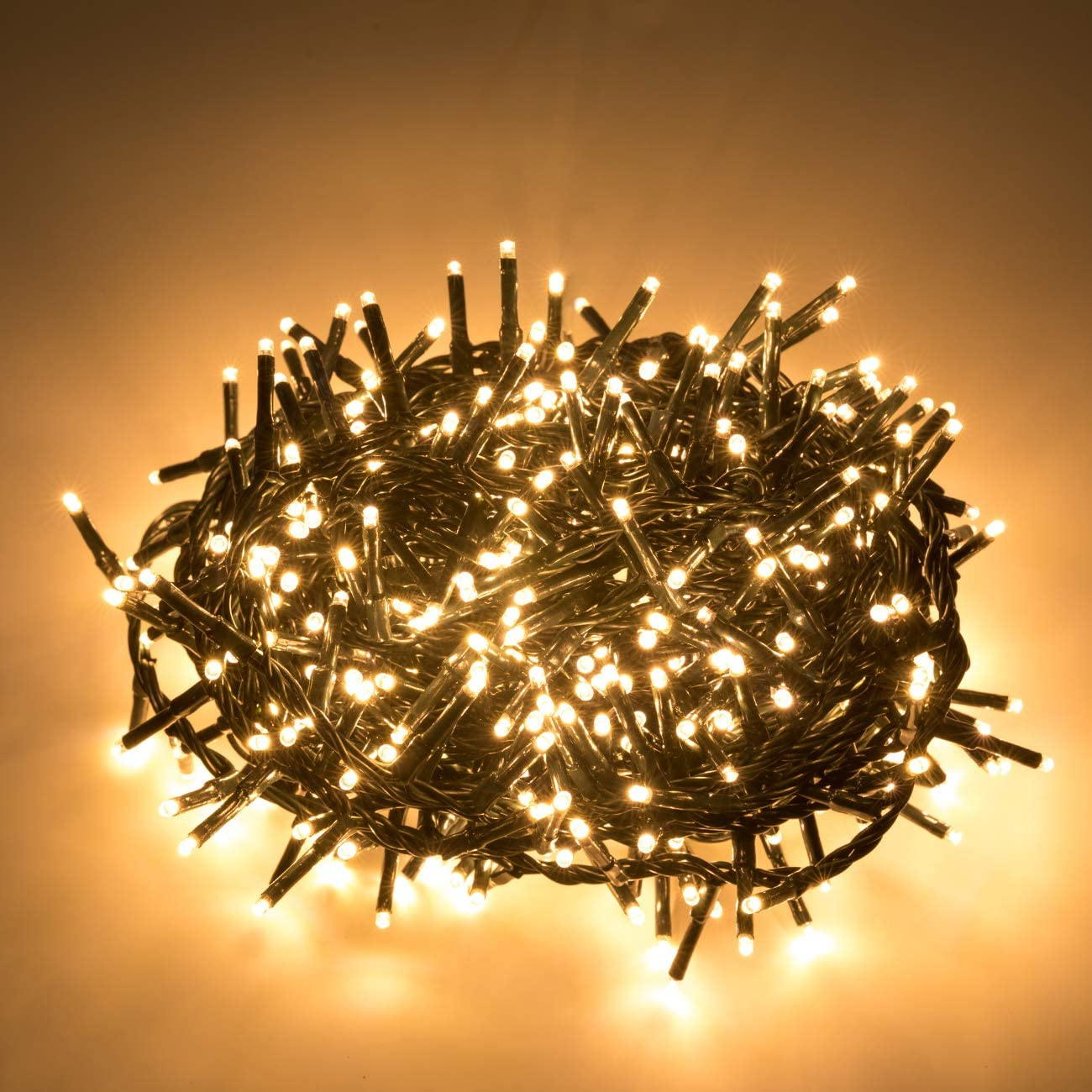 AWQ 500 LED 49ft Christmas Cluster Lights Christmas String Lights Decoration Lights for Christmas Home Garden Wedding Party Xmas Tree Bedroom Indoor Outdoor Decor