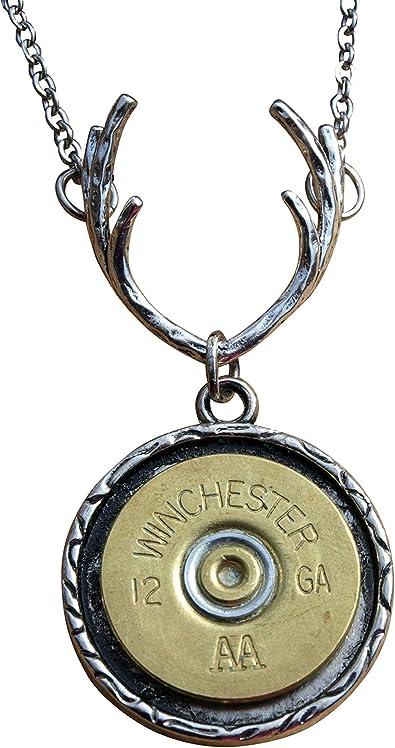 Locket Necklace, Brass Necklace, Deer Necklace, Personalized Necklace, Personalized Locket Deer Antler Necklace with Personalized Initial