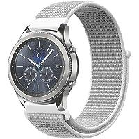 FINTIE Cinturino per Samsung Galaxy Watch 46mm/Gear S3 Frontier/S3 Classic/Huawei Watch 2 Classic [Grande], 22 mm Leggero Traspirante Cinturini di Ricambio in Nylon con Chiusura Regolabile, Seashell