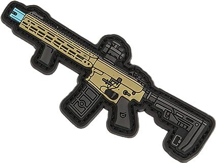 Mini Gun Series PVC Morale Patch Type 81  Black