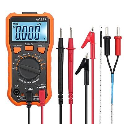 Proster Autoranging Multimeter 6000 Counts AC DC Current Tester Voltage Meter Volt Ohm Meter