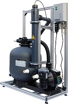 PURION 80 Sistema de filtrado con sistema UV para piscinas de hasta 90m³ La mejor calidad de agua Sin productos químicos con control de vida útil: Amazon.es: Jardín