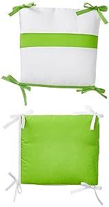 Baby Doll Bedding Junior Rocking Chair Cushion Pad Set for Child/Toddler Rocker, Green Apple