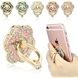 Phone Ring, ECVILLA Luxury Rose Shape Universal Phone Holder, 360° Rotation/3D Ring Grip for iPhone iPad Samsung LG HTC Nokia Huawei Tablet (pink)