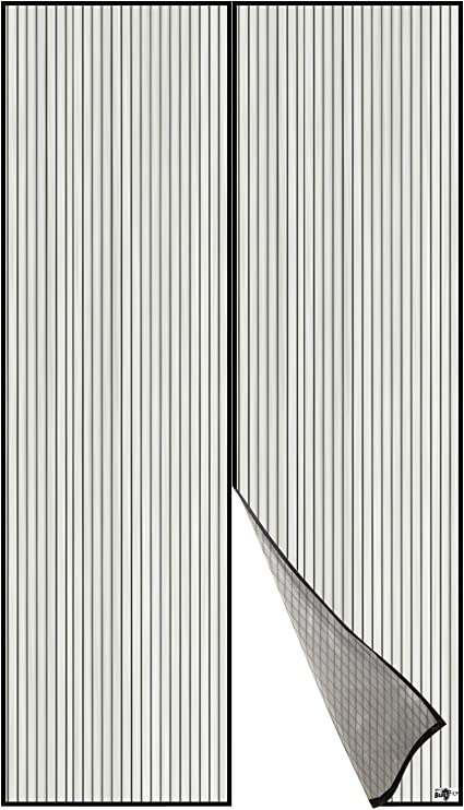 Couloirs 90 * 210cm Facile /à Installer Sans Percer Magn/étique Fermeture Automatique Rideau Porte pour Portes Moustiquaire porte Magn/étique Porte d Entr/ée Int/érieur Patio Aimants Ultra Seal