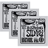 3 Sets of Ernie Ball 2625 8-String Slinky Nickel-Wound Electric Guitar Strings