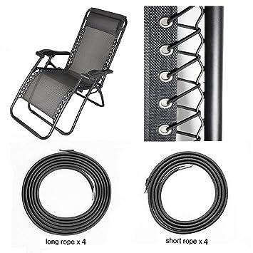 Universal Replacement Cords For Zero Gravity Chair(8 Cords), Replacement  Laces For Zero