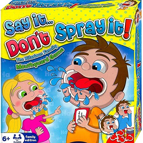 HTI Juego de Mesa Say It Dont Spray It, The Hilarious Mouthpiece ...