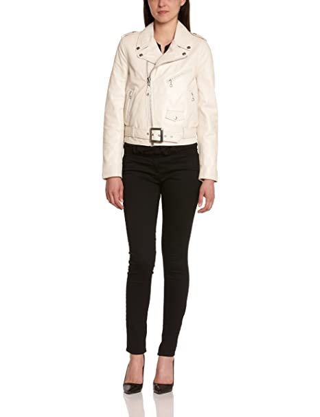 Schott NYC, Chaqueta de manga larga para mujer, Marfil (Off White), M, Blanco crudo (Off-white), Large
