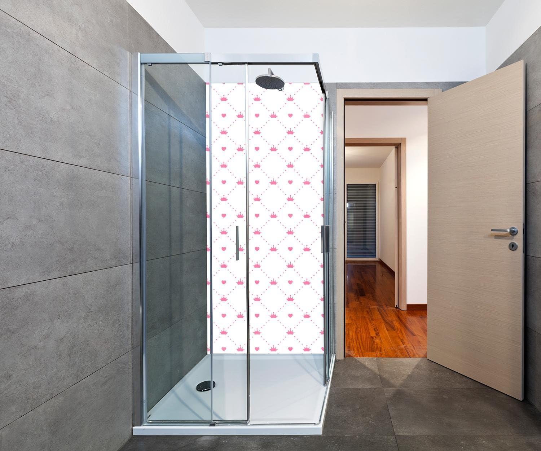 wandmotiv24 Cubierta Trasera de Ducha Princesa - Corazón - Corona 100 x 200 cm (W x H) - 3 mm de Aluminio Diseño de Pared de Ducha, sin Juntas. M0991: Amazon.es: Hogar