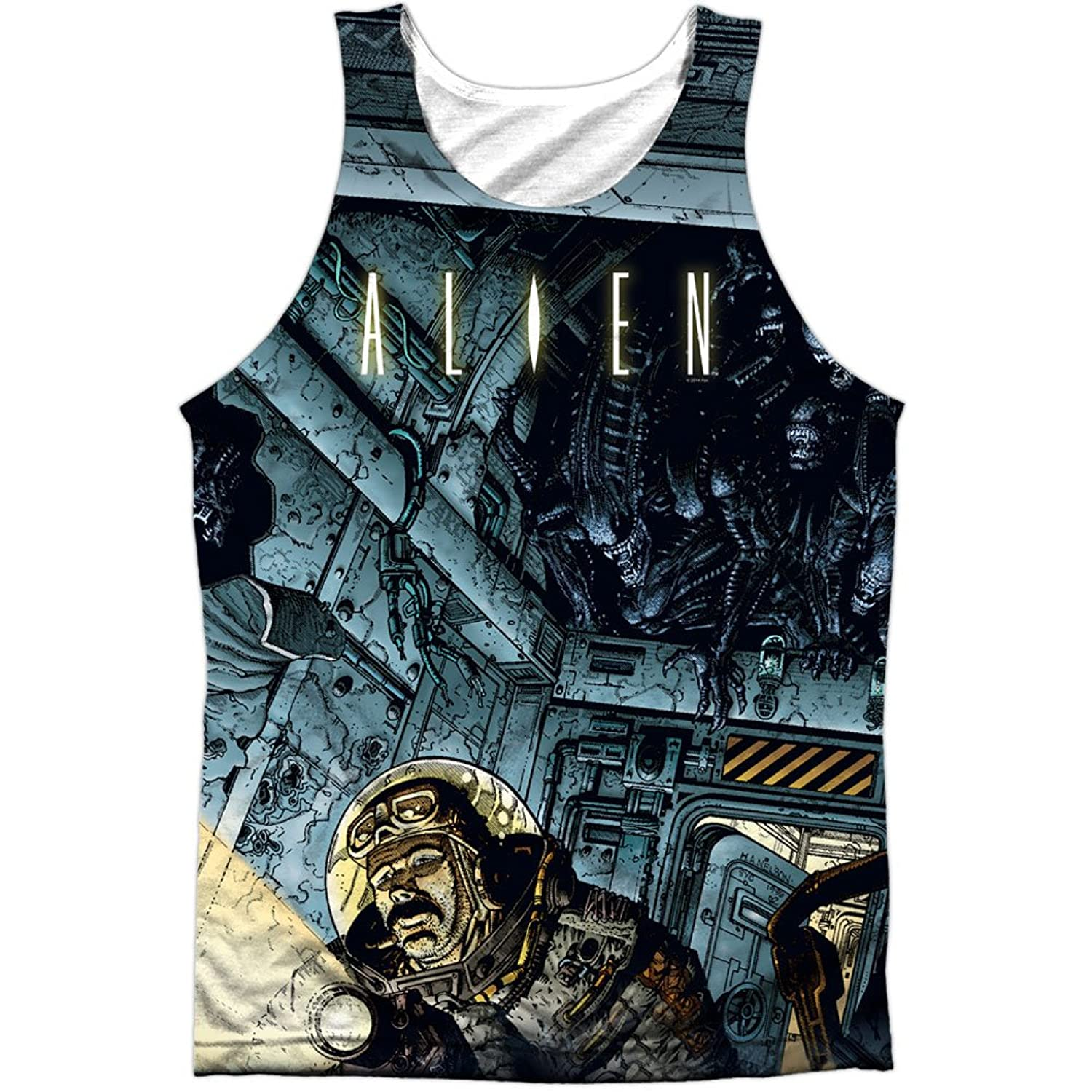 Alien Horror Science Fiction Movie Comic Book Attack Front Print Tank Top Shirt