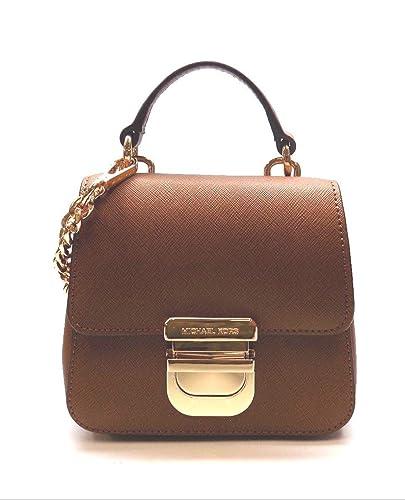 c796d20908d664 Image Unavailable. Image not available for. Color: Michael Kors Black  Bridgette Leather Mini Satchel Luggage