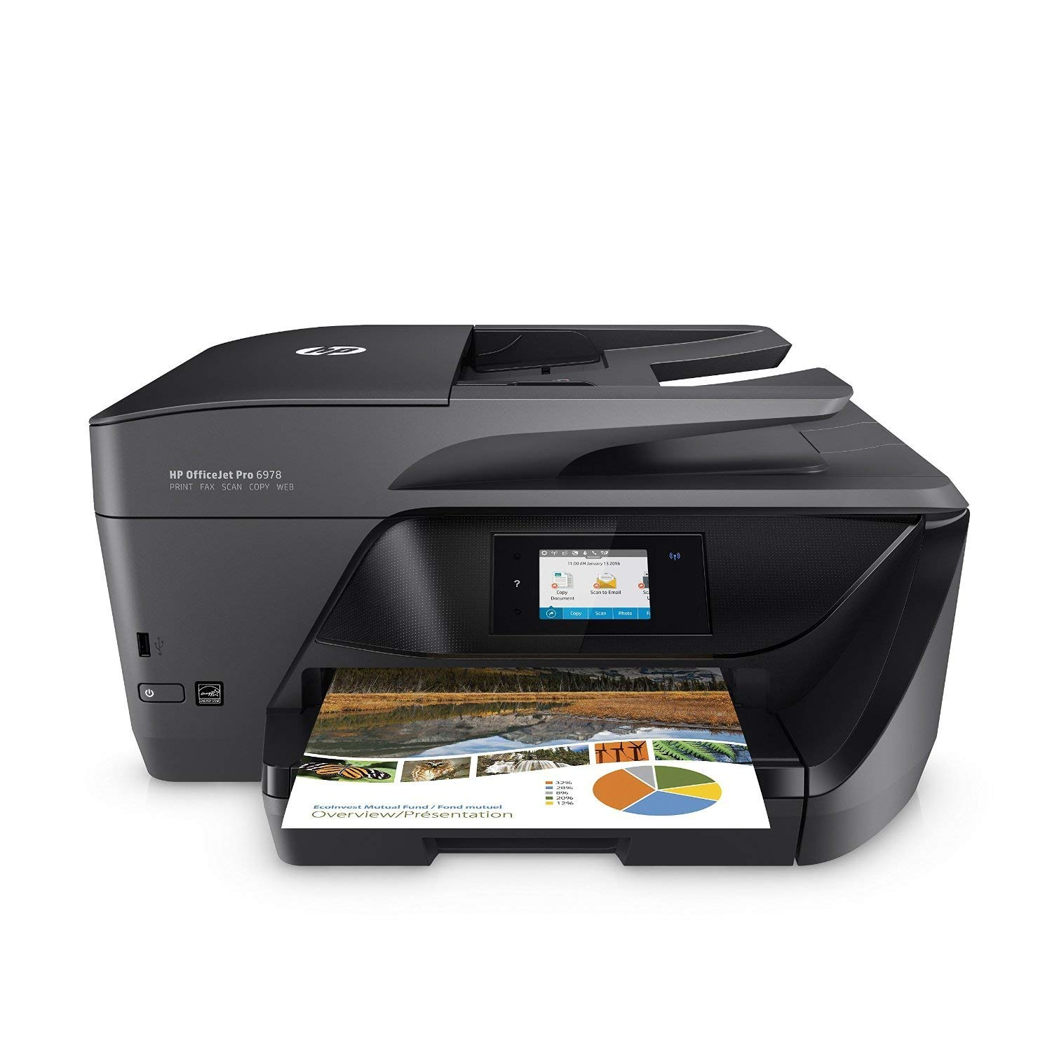 HP OfficeJet Pro 6978 All-in-One Wireless Printer with Mobile Printing, HP Instant Ink & Amazon Dash Replenishment Ready (T0F29A) (Renewed) by HP