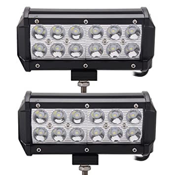 Amazon led light bar senlips 2x 736w spot beam light offroad led light bar senlips 2x 7quot36w spot beam light offroad light bar led aloadofball Gallery