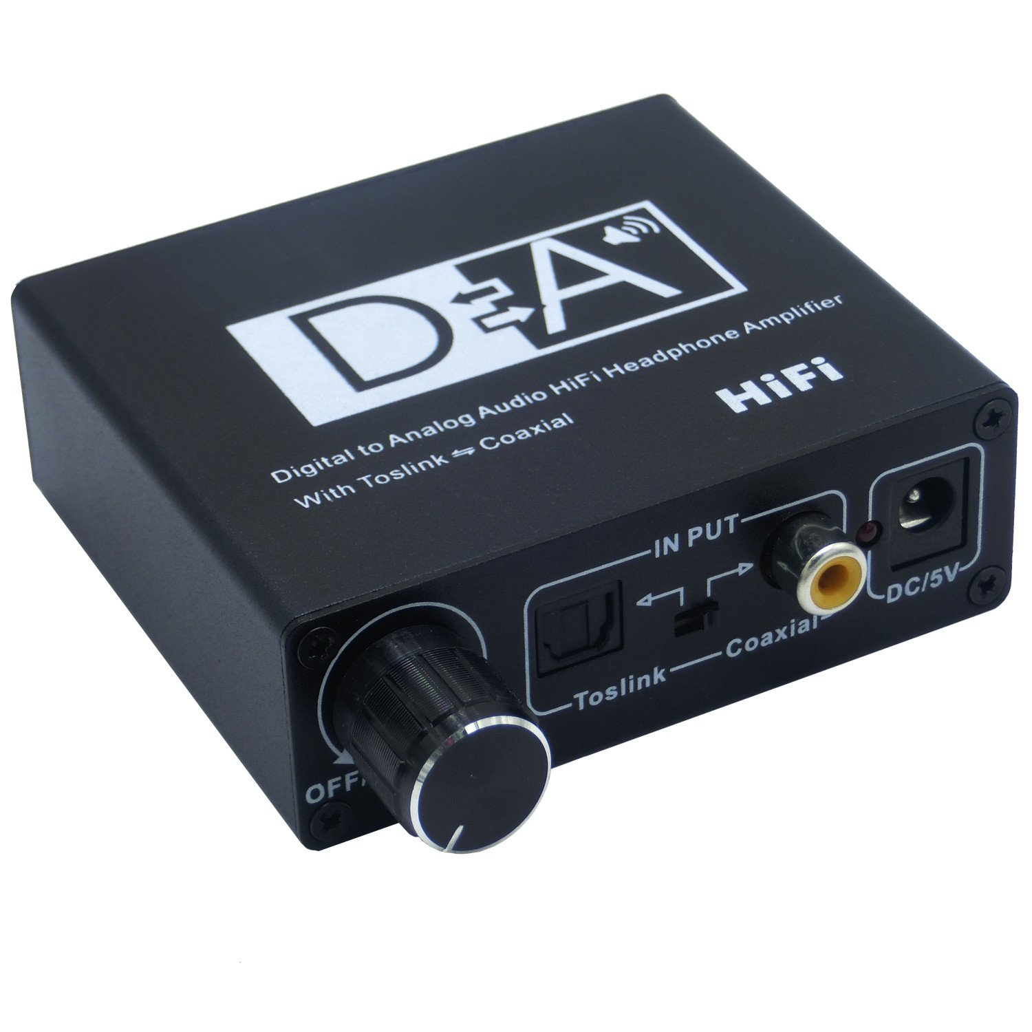 192KHZ DCA Digital To Analog Audio Converter With Volume Control Digital SPDIF Optical Toslink Coaxial To Analog Stereo L/R RCA 3.5mm for Blu-ray PS3 XBox HDDVD PS4 Home Cinema Systems AV AmpsAudio Ad