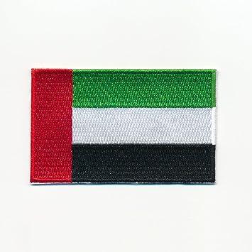40 X 25 Mm Patch Vereinigte Arabische Emirate Flagge Flag Aufnäher Aufbügler 0939 A Auto