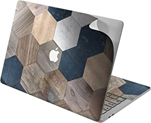 "Cavka Vinyl Decal Skin for Apple MacBook Pro 13"" 2019 15"" 2018 Air 13"" 2020 Retina 2015 Mac 11"" Mac 12"" Cover Laptop Wooden Design Tile Print Sticker Geometric Tessellation Classy Hexagon Protective"