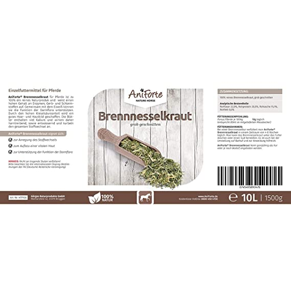 AniForte brennnessel Rodnik Grueso Corte 10 L - Producto Natural para Caballos: Amazon.es: Productos para mascotas