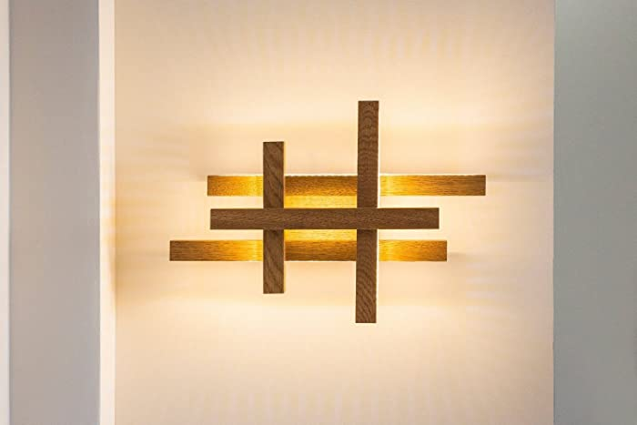 Amazon Led Wall Light Wooden Sconce Modern Home Deco