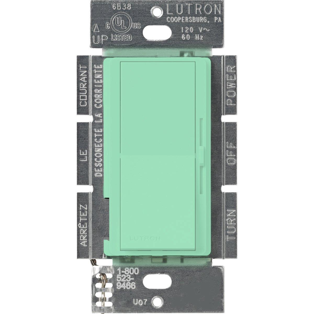 Lutron DVSC-103P-SG Diva 1000-watt 3-Way Dimmer, Sea Glass