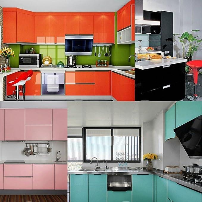 JiaMeng Decoración del hogar, 13 Tipo Color Brillante Muebles restaurados Pegatinas decoración de Papel Tapiz extraíble PVC: Amazon.es: Hogar