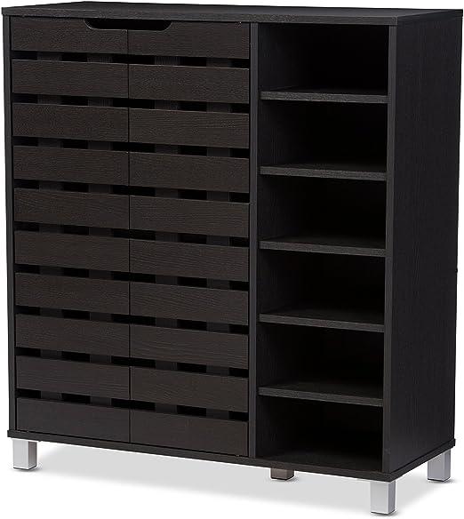 12 Shelf Shoe Storage Cabinet, Two