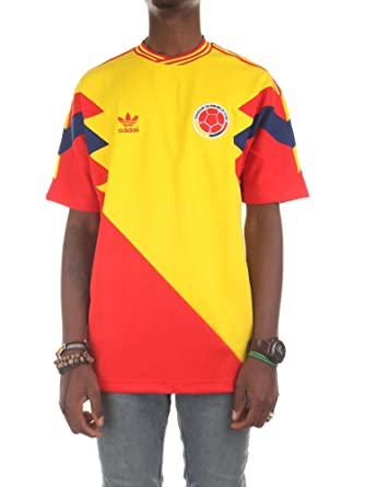 f75212152 Adidas T-Shirt Colombia Mashup Yellow red Blue Size  L (Large ...
