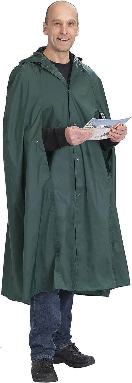 W/äfo Unisex PU-beschichteter Regen XL braunoliv 3900 und Wanderponcho F/üssen