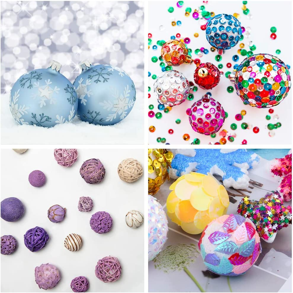 SBYURE 100 Pieces Foam Craft Balls 20mm White Polystyrene Foam Ball for DIY Art Craft,Ornaments,Household,School Projects and Christmas Decorations 0.79 inch