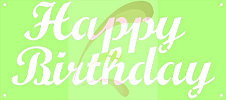Happy Birthday To You Stencil Cookie Stencil FAST Shipping! Hand lettered stencil Cake Stencil Birthday Party Stencil