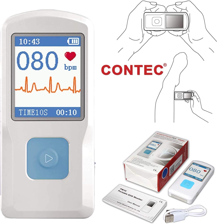 ECG/EKG Gambarter Electrocardiógrafo Portátil Contec PM10 Batería De Litio. Bluetooth. Pantalla LCD