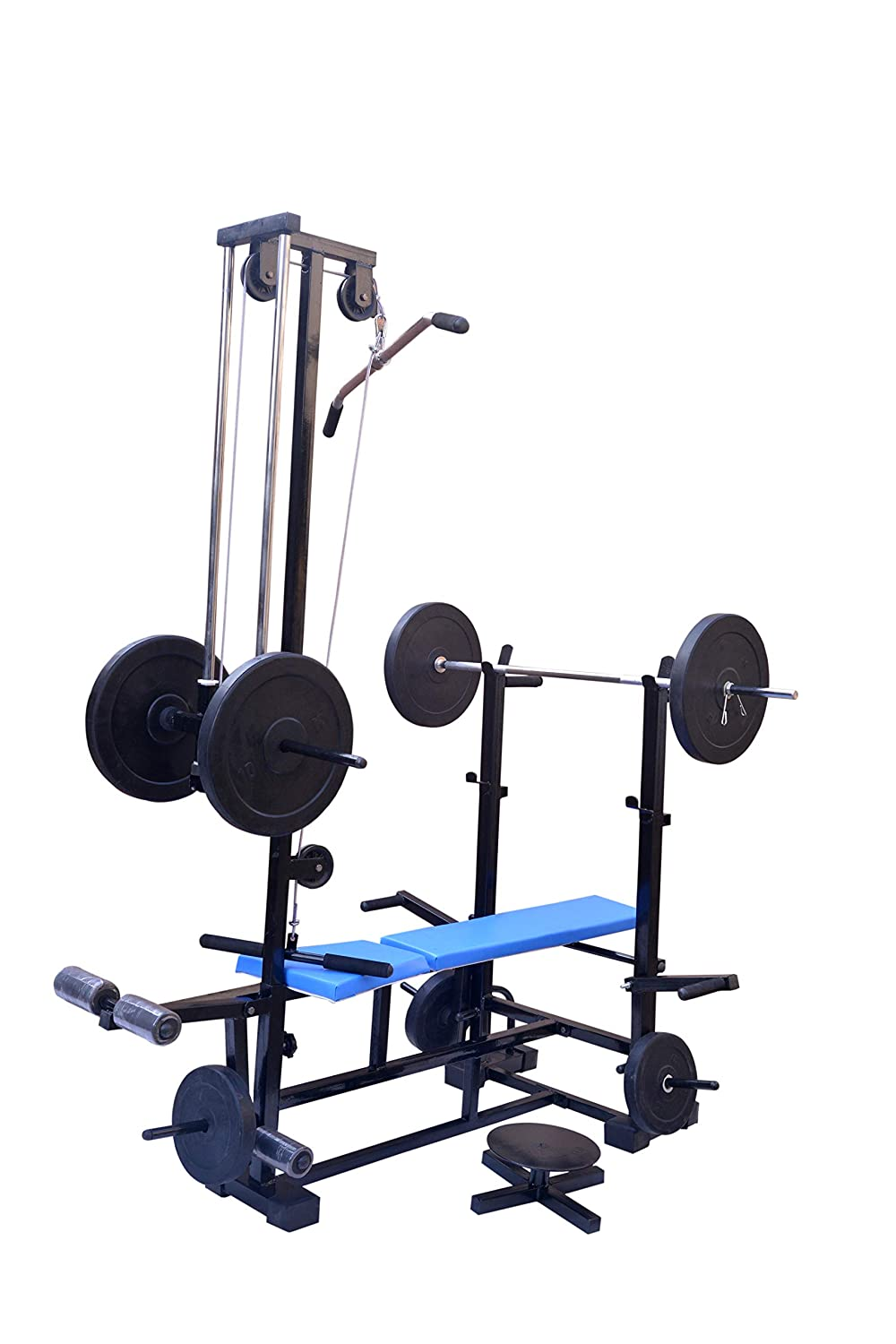 FITNESS HUB Combo 20 in 1 Bench (2x2 Pipe Size Double Supported Bench) for Exercise.