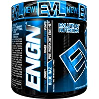 Evlution Nutrition ENGN Pre-Workout, Blue Raz, 30 Servings, Pikatropin-Free, Intense Pre-Workout Powder for Increased Energy, Power, and Focus