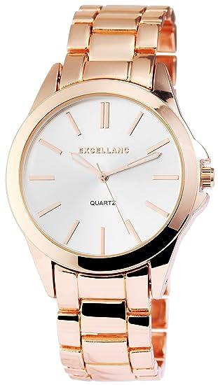 Reloj mujer plata rosado. Oro Analógica Metal Reloj de pulsera