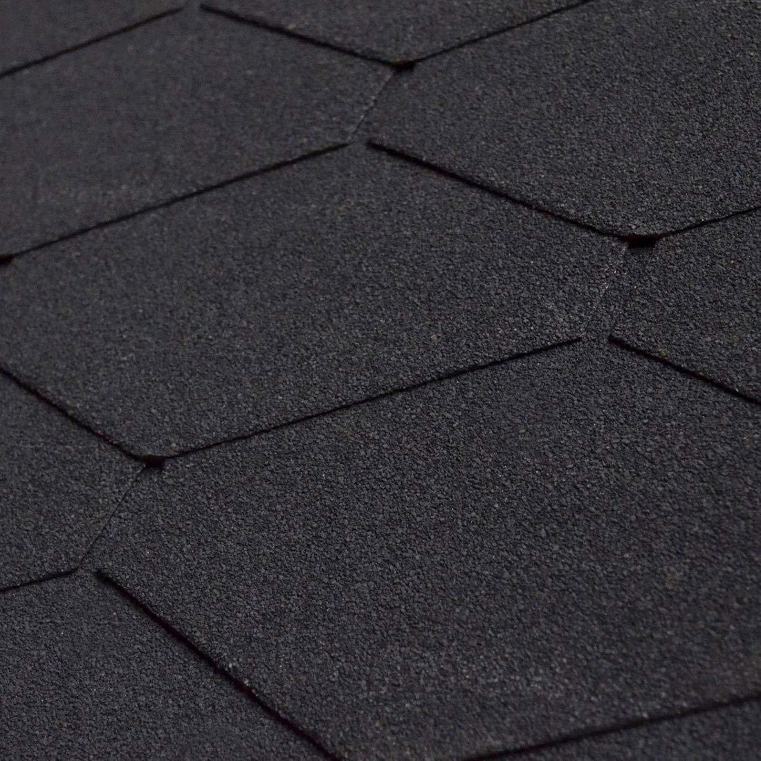 BITUWELL Bitumenschindeln Dreieck Schwarz Deckfl/äche 1,96 m/²