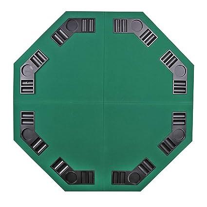 ZBW - Mesa de póquer Plegable de 48 Pulgadas, diseño Octagonal, 8 Jugadores,