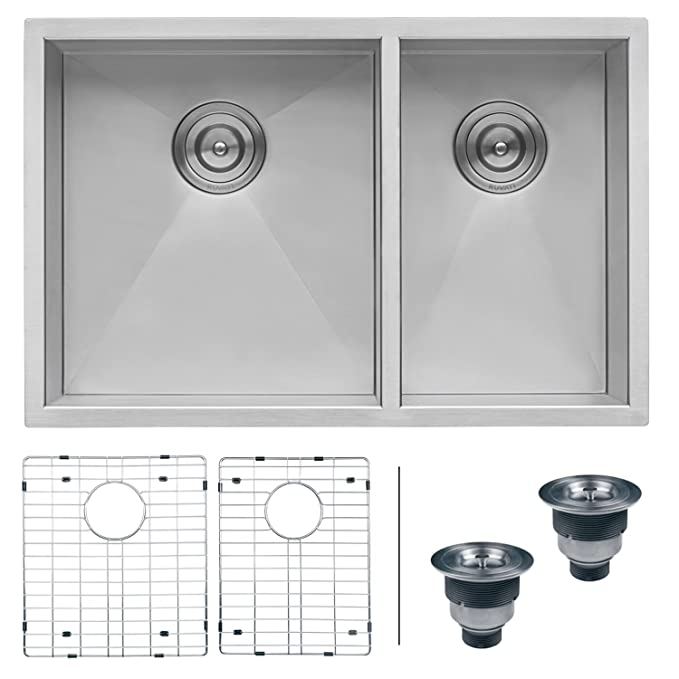Ruvati rvh7515 undermount 16 gauge kitchen sink double bowl 32 ruvati rvh7515 undermount 16 gauge kitchen sink double bowl 32 stainless steel amazon workwithnaturefo
